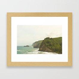 Cliffs in Hawaii Framed Art Print