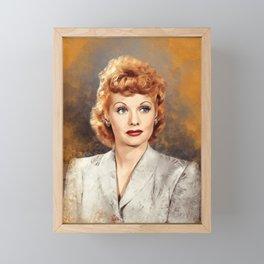 Lucille Ball, Actress Framed Mini Art Print