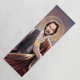 Saint Keanu of Reeves Yoga Mat