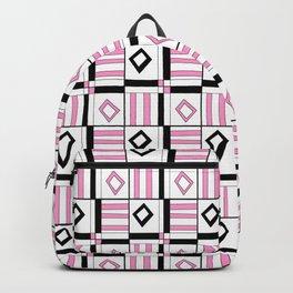 symetric tartan and gingham 3 -vichy, gingham,strip,square,geometric, sober,tartan Backpack