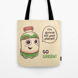 No to plastic bottles! Tote Bag