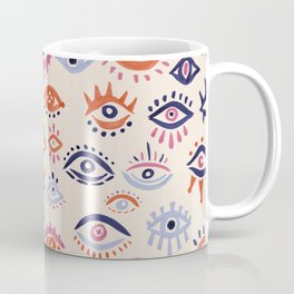 Mystic Eyes – Coral & Navy Coffee Mug