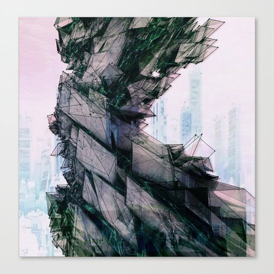 ElectricCity Canvas Print