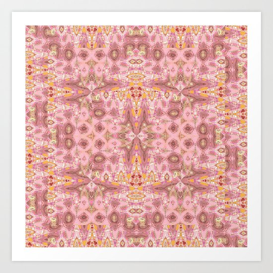 Tapestry in Pink Art Print