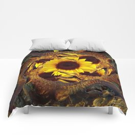 """UP TO MY BUTT"" IN ALLIGATORS  GOLD ART Comforters"