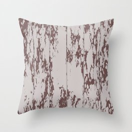 Weathered Wood Paneling 02 Throw Pillow