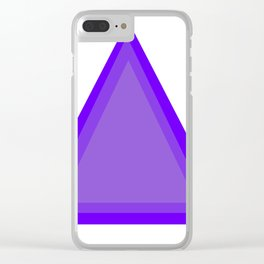 Triangles: Purple on Purple Clear iPhone Case