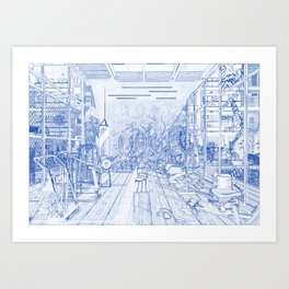 Architectural blueprint art prints society6 malvernweather Image collections