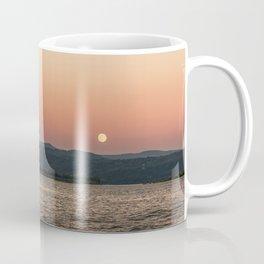 Mt. Hood Moonrise at Sunset Coffee Mug