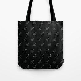 Baesic Llama Pattern (Black) Tote Bag