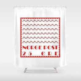 Norge Post Shower Curtain
