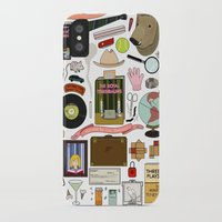 royal tenenbaums iPhone & iPod Cases featuring The Royal Tenenbaums by Shanti Draws
