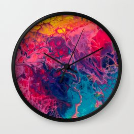 rainbow heavens Wall Clock