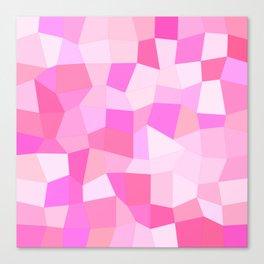 Bright Pink Mosaic Canvas Print