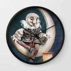 Rucus Studio Owl Poet Wall Clock