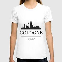 COLOGNE GERMANY BLACK SILHOUETTE SKYLINE ART T-shirt