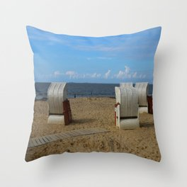 Beach Life in Autumn Throw Pillow