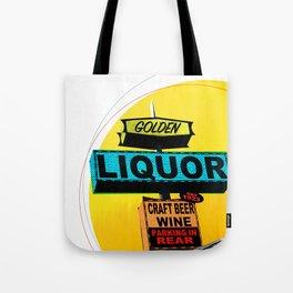 Golden Liquor Tote Bag