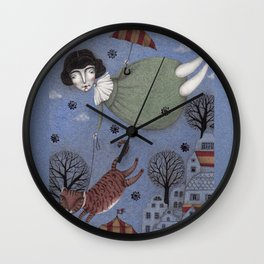 There goes the Cat Wall Clock