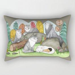 Raised by Wolves Rectangular Pillow