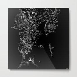 Ana Somnia (classic black) Metal Print
