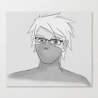 kakashi Canvas Prints featuring Kakashi Glasses by cakeiton