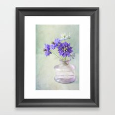 Love in a Mist Framed Art Print