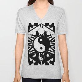 Yin Yang Orbit Unisex V-Neck