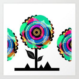 Fleurs 05 Art Print