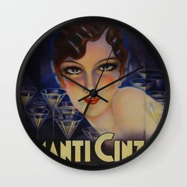 Spectacular Vintage 1933 Cinzano Advertisement by Plinio Codognato Wall Clock