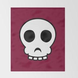 Goofy skull Throw Blanket