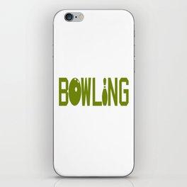 BOWLING iPhone Skin