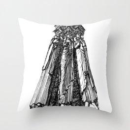 power of three Throw Pillow