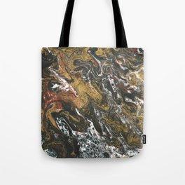 Golden Seas, abstract poured acrylic Tote Bag