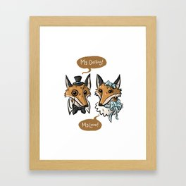 Foxy Darlings Framed Art Print