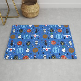 Anime Manga Ghibli Inspired Cute Cheerful Creatures Rug