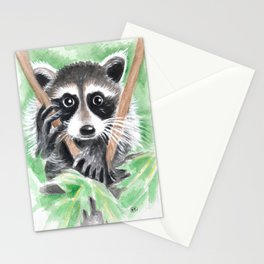 El Bandito Raccoon In The Tree Stationery Cards