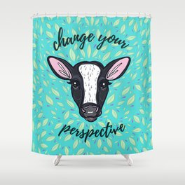Change Your Perspective White Blaze Shower Curtain