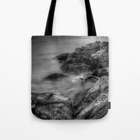 rush Tote Bags featuring Rush by Mark Alder