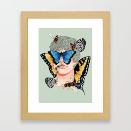 Butterfly Boy Framed Art Print