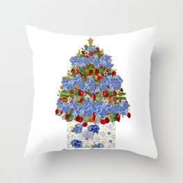 A Cape Cod Christmas Throw Pillow