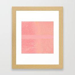 Pink Stripe Framed Art Print