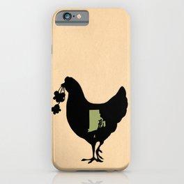 Rhode Island - State Papercut Print iPhone Case
