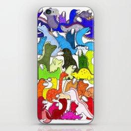 Rainbow Dinosaur Gradient iPhone Skin