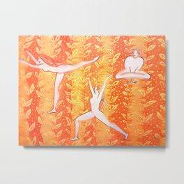 Yoga poses 01 Metal Print