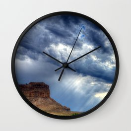 Butte of Chaco Canyon Wall Clock