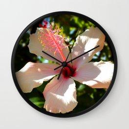 Hibiscus IV Wall Clock