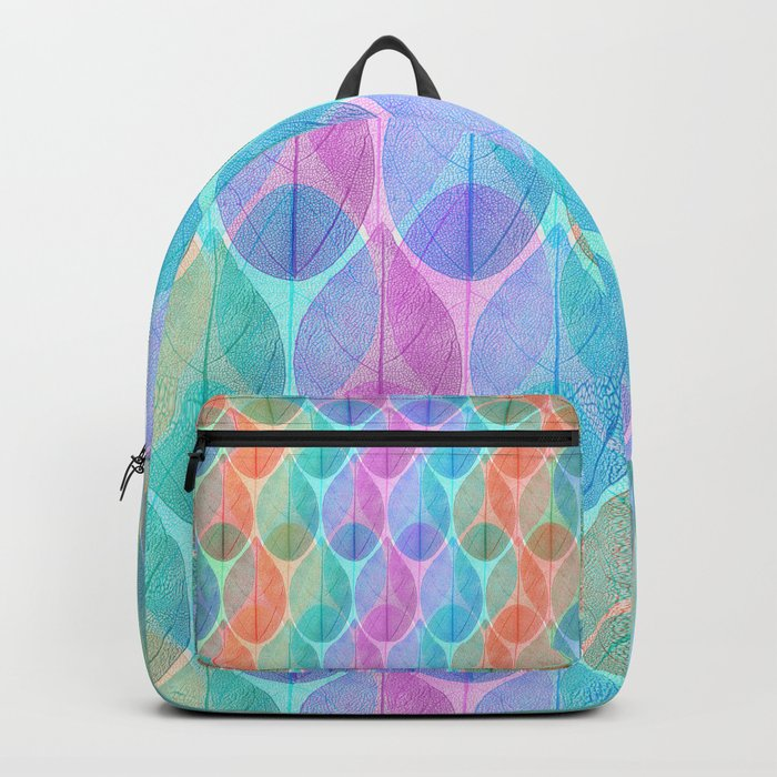 Colored Leaf Skeleton Pattern 2 Backpack