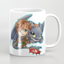 Httyd 2 - Chibi Hiccup and Toothless Coffee Mug