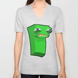Green Block Dude Unisex V-Neck